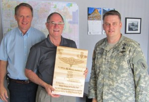 Proudly receiving a plaque from Army 10th Special Forces for a job well done