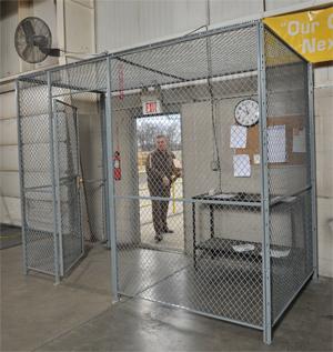 Wire mesh enclosures, Enclosures, partitions