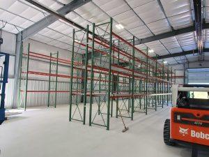pallet rack, tear drop style selective pallet rack, selective pallet rack, Western Storage and Handling, WSH, CBD Laboratories, CBD,